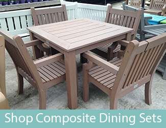 composite garden furniture wood effect benches dining sets rh winawoodbenches co uk composite wood deck furniture synthetic wood garden furniture